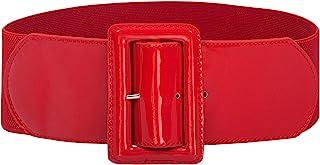 GRACE KARIN Women Stretchy Elastic Retro Dress Belt Wide Waist Cinch Belts