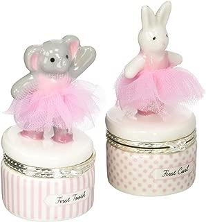 Mud Pie Baby Princess First 牙齿和卷曲宝盒套装 Ballerinas