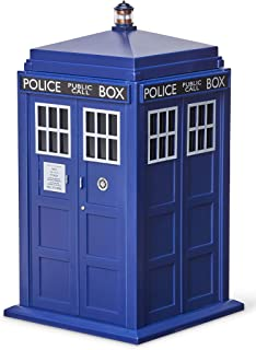 Doctor Who Tardis Cookie Jar with Light & Sound Effects – Activated by Pushing..