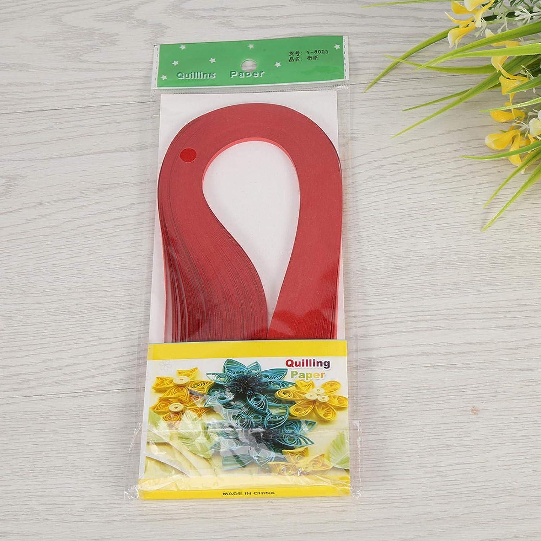 600 rayas DIY Quilling Paper 3 mm de ancho Color puro Origami Paper Hand Craft Decoration amarillo