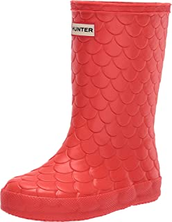 Hunter Kids Girl's First Classic Sea Dragon Boots (Toddler/Little Kid) Lava Red 10 Toddler