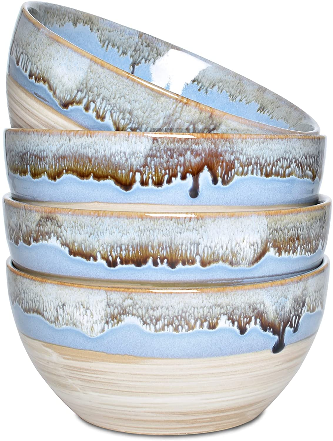 Bosmarlin Stoneware Soup Bowl Set of 4 Max 90% OFF O Oz Cereal Los Angeles Mall 26 for
