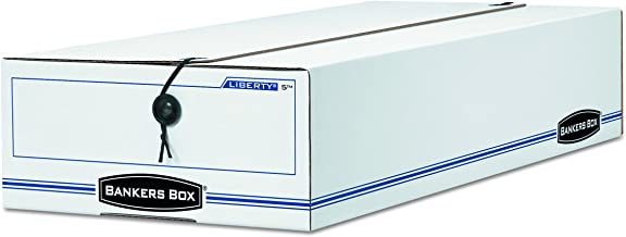 Bankers Box LIBERTY Check and Form Boxes, Standard Set-Up, String and Button, 9 x 14 1/4 x 4 Inches, Case of 12 (00009)