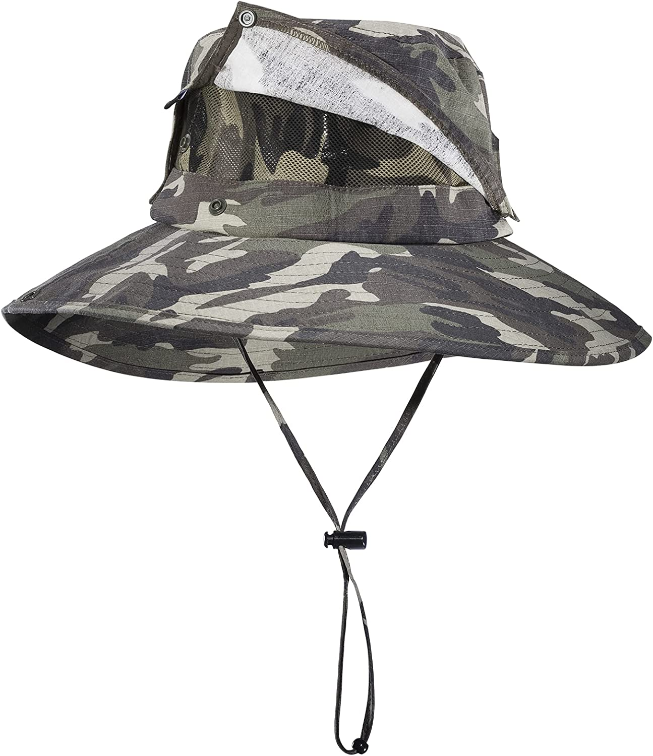 ROCK BROS Fishing Hat for Men Sun Protection Hats with Detachabl