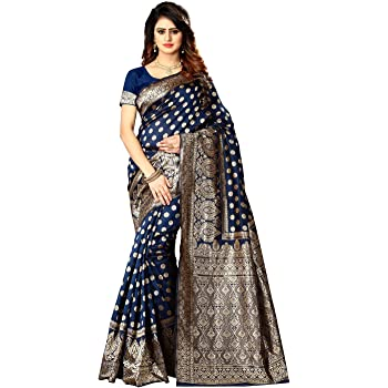 Women's Banarasi Silk Saree Indian Wedding Ethnic Sari & Unstitch Blouse Piece PARI 22