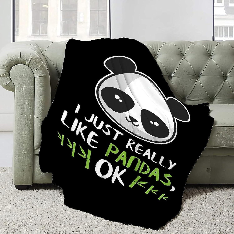 Nichiren I Just Really Like Pandas Branded goods Super Ok Blanket Soft Flannel Award-winning store