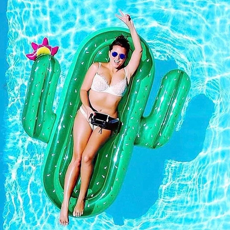 Piscina gtuttieggianti Giocattolo Gtuttieggiante Gonfiabile Giant Gonfiabile Cactus Acqua Gtuttieggiante Zattera Estate Nuotare Piscina Lounger Spiaggia Anello