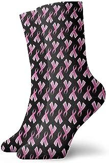 Dydan Tne, Cáncer de Mama Calcetines de Vestir de Cinta Rosa Calcetines Divertidos Calcetines Locos Calcetines Casuales para niñas Niños