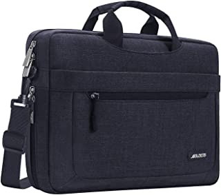 MOSISO Laptop Shoulder Bag Compatible with 13-13.3 inch MacBook Pro, MacBook Air, Notebook Computer with Adjustable Depth at Bottom, Polyester Messenger Carrying Briefcase Handbag Sleeve, Black