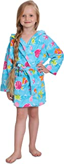 Ocean Print Cotton Hooded Terry Robe Cover Up, Sizes 4-12