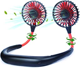 Neck Fan Portable Neckband Fan USB Rechargeable Hand Free Personal Mini Sport Fan with 3 Level Air Flow aromatherapy fan f...