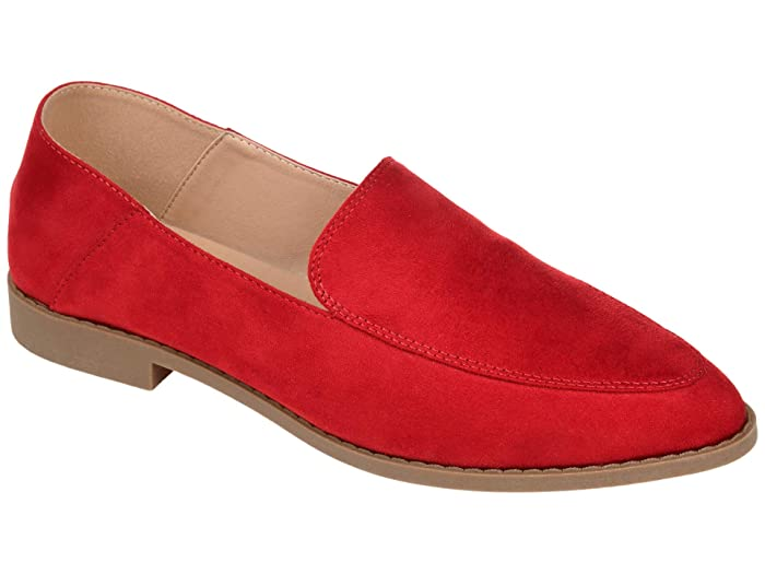 Retro Vintage Flats and Low Heel Shoes Journee Collection Comfort Foam Tenley Flat Red Womens Shoes $49.99 AT vintagedancer.com