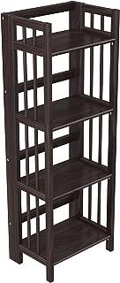"Stony-Edge Folding Bookcase, Easy Assembly Bookshelf for Home Office Storage. 16"" Espresso"