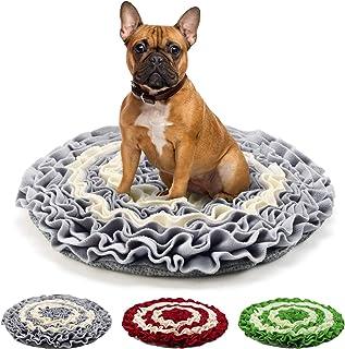 Pidsen ノーズワークマット 犬 ペットおもちゃ 訓練毛布 頑丈 分離不安・食いちぎる対策 運動不足・ストレス解消 集中力向上 知育玩具 ペット用品 (45*45cm, グレー)