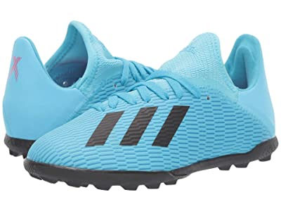 adidas Kids X 19.3 TF Soccer (Little Kid/Big Kid) (Bright Cyan/Black/Shock Pink) Kid