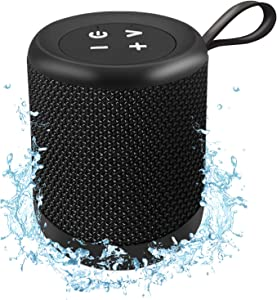 Megatek Portable Bluetooth Speaker with IPX5 Waterproof, 100-Foot Wireless Range, Crystal-Clear HD Sound, Rich Bass, Aux Input, Small Speaker with Clip for Outdoor, Travel, Shower & Pool