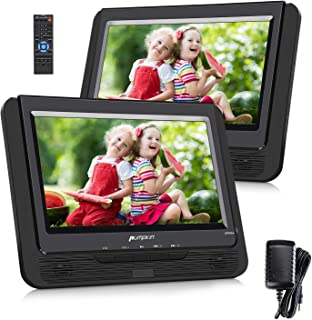 Pumpkin Lecteur DVD Portable Double ecran Voiture 9 Pouce supporte USB SD MMC Autonomie..