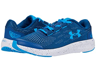 Under Armour Kids Charged Pursuit 2 (Big Kid) (Graphite Blue/White/Electric Blue) Boys Shoes