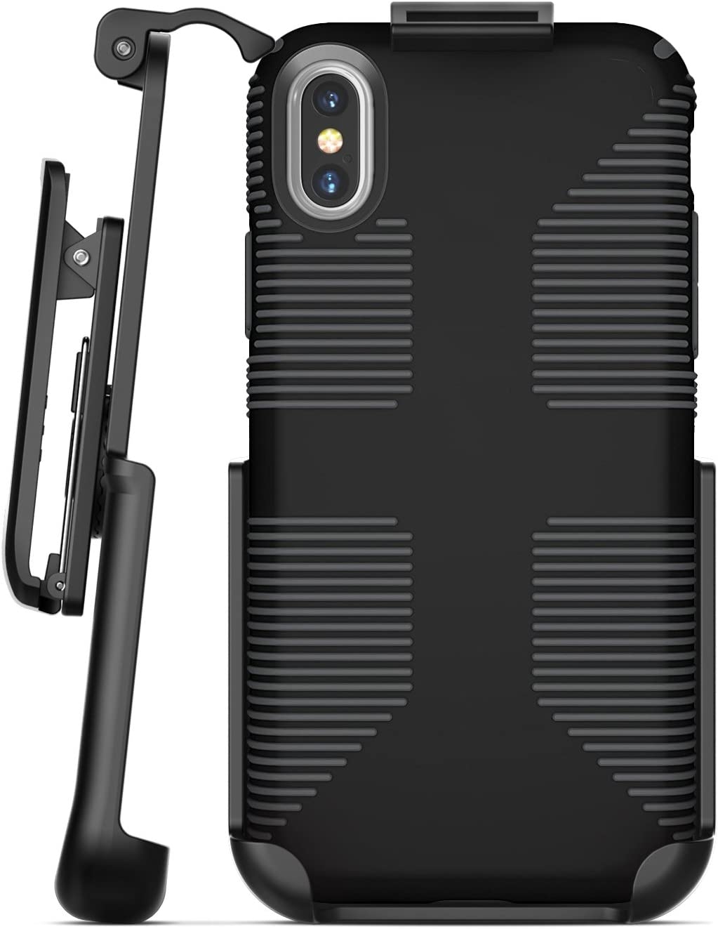Encased Belt Clip Holster for Speck CandyShell Grip Case - Apple iPhone X/iPhone Xs (case not Included)
