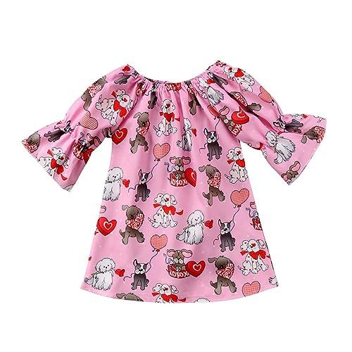 6c2e59250 Toddler Kids Baby Girls Cartoon Deer Christmas Dress Princess Party Clothes  Set