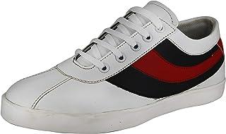 Toyto by LeatherKraft Men's Red Sneakers