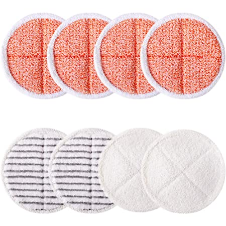 Wadoy Replacement Pads for Bissell Spinwave 2039A 2124 Included 4 Heavy Scrub Pads Hard Floor Mop Pads Kit