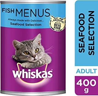 Whiskas Seafood Selection, Can, 400g - Pack of 24