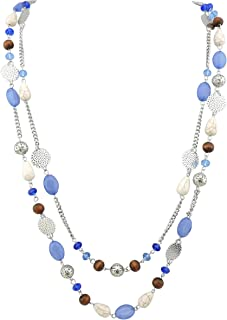 Best long blue and white beaded necklace Reviews