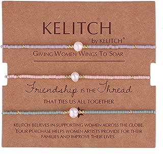 3 Pcs Shell Pearl Seed Beads Friendship Bracelets Handmade Adjustable String Bracelet