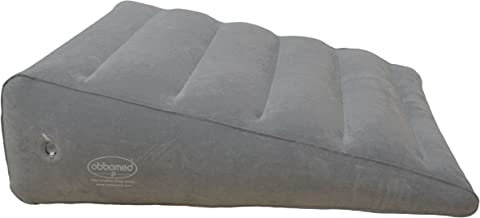 """ObboMed HR-7600 Inflatable Portable Bed Wedge Pillow with Velour Surface for Sleeping, Travel, Trip vacation -23"""" x 22"""" x(..."""