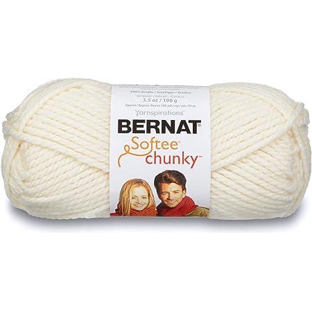 Bernat Softee Chunky Yarn, 3.5 Oz, Gauge 6 Super Bulky, Natural