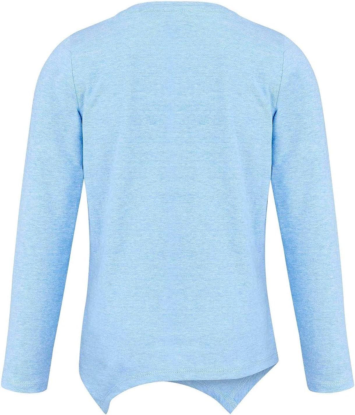 Les Pyjamasques T-Shirt asym/étrique Manches Longues Enfant Fille Bleu de 3 /à 8ans