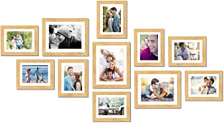Art Street Boulevard Set of 11 Individual Photo Frames/Wall Hanging ||8x10-3 pcs, 6x8-8 pcs|| Beige