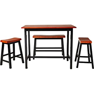 Crown Mark Tyler 4 Piece Counter Height Table Set Table Chair Sets