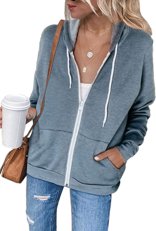 Adibosy Women's Tie Dye Printed Hoodie Sweatshirt Casual Zipper Long Sleeve Sweatshirts with Pockets S-XL
