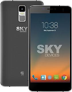 SKY Devices – Elite 6.0L+, 4G LTE Android Unlocked Smartphone, 13MP/5MP Cameras, 8GB Storage, 1GB RAM - Dark Grey