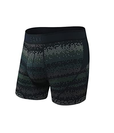SAXX UNDERWEAR Kinetic Boxer (Black Frequency) Men
