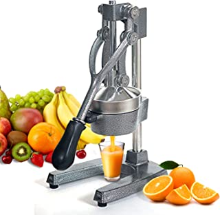 ZENY Commercial Grade Hand Press Manual Juicer - Home Restaurant Fruit Juice Squeezer - Citrus Squeezer for Lemons Limes Pomegranate Oranges, Grey