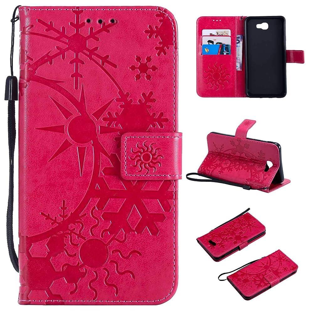 複雑役に立たない評論家Galaxy J7 Prime ケース CUSKING 手帳型 ケース ストラップ付き かわいい 財布 カバー カードポケット付き Samsung ギャラクシー J7 Prime マジックアレイ ケース - ホトピンク