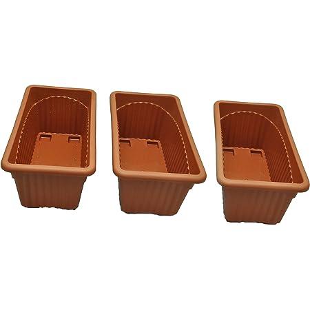 EaglesFord K-3 Royal Rectangular Plastic Planter - Pack of 3