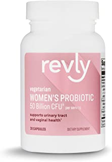 Amazon Brand - Revly One Daily Women's Probiotic, Support Urinary Tract and Vaginal Health, 50 Billion CFU (7 strains), La...