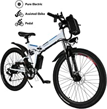 Yiilove Electric Bicycle 26'' Electric Mountain Bike for Adult with 36V Lithium-Ion Battery Ebike 250W Powerful Motor 21 Speed