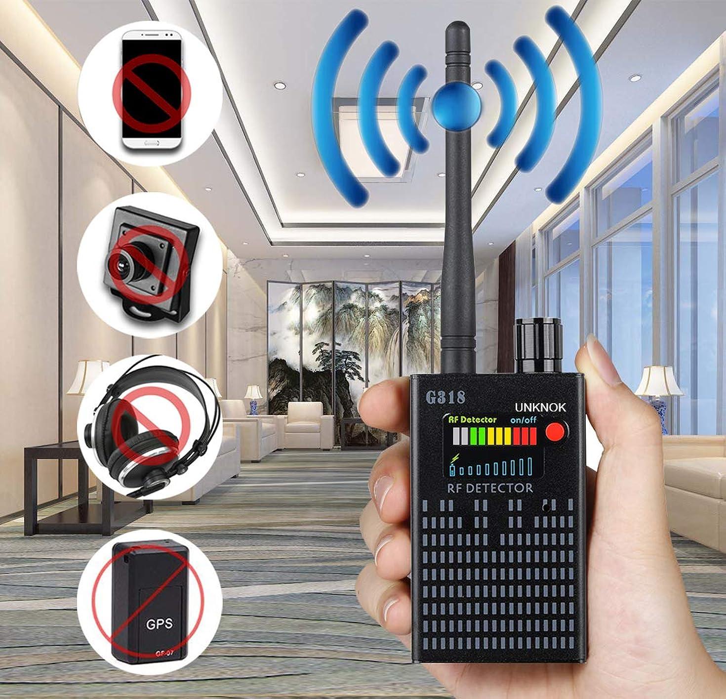 Hidden Camera Detector, UNKNOK 2019 Upgrade Bug Detector [Anti-Spy][Ultra-high] RF Signal, Radio Frequency, GPS Detector Anti Spy Camera Finder Bug Sweaper Scanner Detection Device