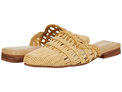KAANAS Aruba Woven Mule with Square Toe (Ivory) Women
