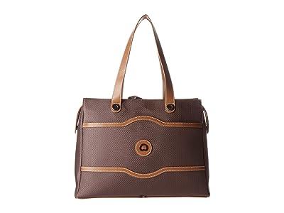 Delsey Chatelet Soft Air Shoulder Bag (Chocolate) Luggage