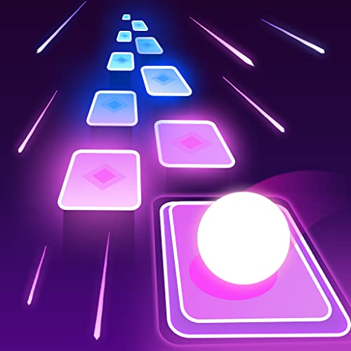Ball Hop Neon Tiles - Free EDM Music Rush Game!