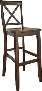 Crosley Furniture CF500430-MA X-Back Bar Stool (Set of 2), 30-inch, Vintage Mahogany