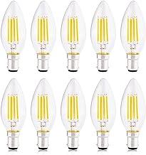 B15 Kaarslamp, Kleine Bajonet-led-lampen 4W Equivalent aan 40W Gloeilamp, Niet Dimbaar, 2700K Warm Wit, 420 lm - Verpakkin...