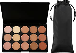 Vtrem Camouflage Concealer Palette 15 Colors Professional Contour Eyeshadow Face Cream Makeup Foundation Kit for Professional and Daily Use