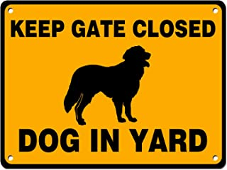 Dog in Yard Keep Gate Closed Sign Reflective Signs 12 X 10 Inch Rust Free 40 Mil Aluminum Sign